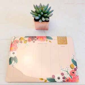 NWT Anthropologie Rifle Paper Weekly Deskpad